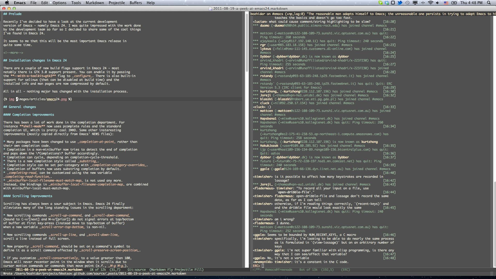 A peek at Emacs 24 · (think)