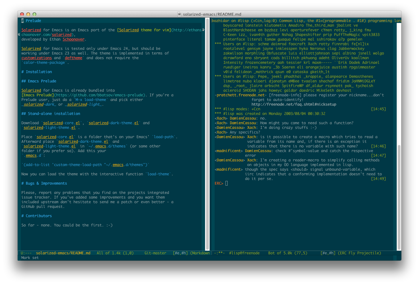 Solarized for Emacs